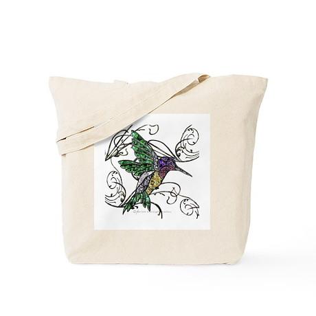 Gem Hummingbird Tote Bag
