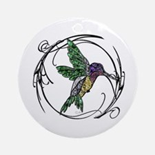 Gem Hummingbird Ornament (Round)