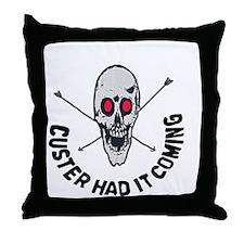 Custer Throw Pillow