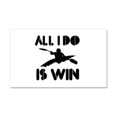 All I do is Win Kayak Car Magnet 20 x 12