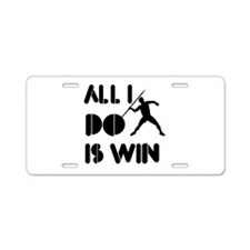 All I do is Win Javelin Aluminum License Plate