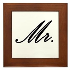 """Mr."" Framed Tile"