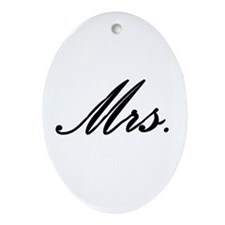 """Mrs."" Ornament (Oval)"