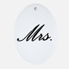 """""""Mrs."""" Ornament (Oval)"""
