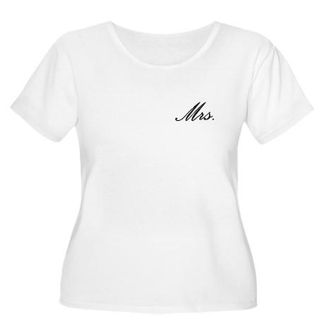 """Mrs."" Women's Plus Size Scoop Neck T-Shirt"