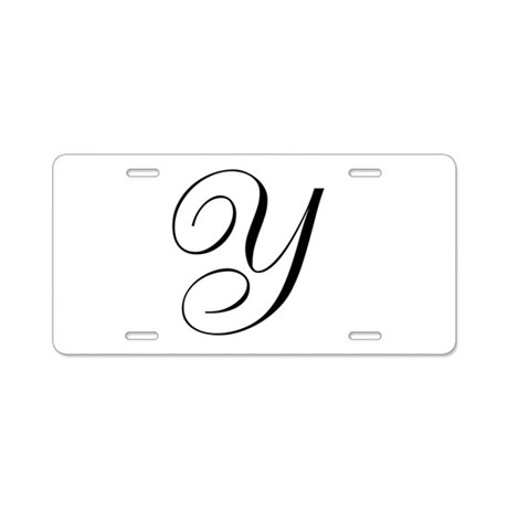 Y's Aluminum License Plate
