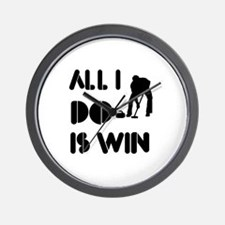 All I do is Win Curling Wall Clock