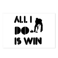 All I do is Win Curling Postcards (Package of 8)