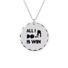 All I do is Win Curling Necklace