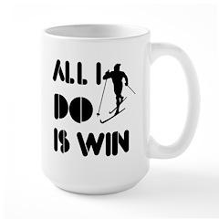 All I do is Win Cross country skiing Large Mug