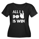 All I do is Win Diving Women's Plus Size Scoop Nec