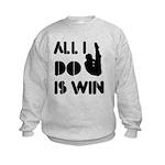 All I do is Win Diving Kids Sweatshirt