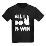 All I do is Win Diving Kids Dark T-Shirt