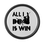 All I do is Win Diving Large Wall Clock