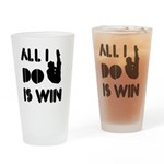 All I do is Win Diving Drinking Glass