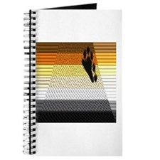 BEAR PRIDE ABSTRACT FLAG_TILED&LINED Journal