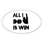 All I do is Win Diving Sticker (Oval 50 pk)