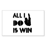All I do is Win Diving Sticker (Rectangle 50 pk)