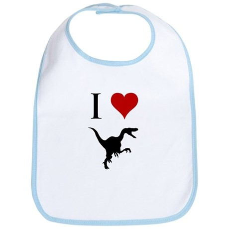 I Love Dinosaurs - Velocirapt Bib