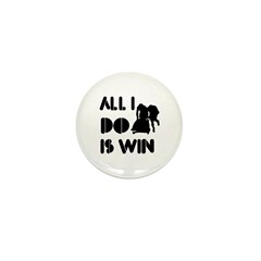 All I do is Win Bobsled Mini Button (100 pack)