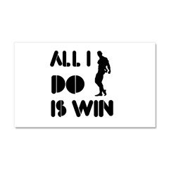 All I do is Win Bodybuilding Car Magnet 20 x 12