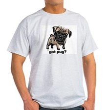 Got Pug Ash Grey T-Shirt