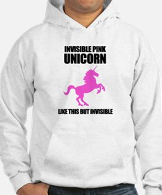 Invisible Pink Unicorn Hoodie