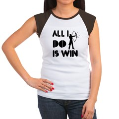 All I do is Win Archery Women's Cap Sleeve T-Shirt