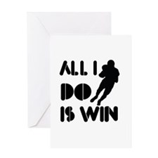 All I do is Win American Football Greeting Card