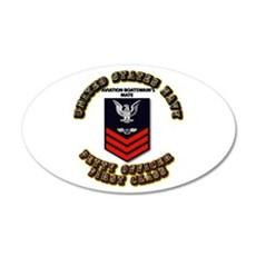 US Navy - PO1 - AB with Text 22x14 Oval Wall Peel