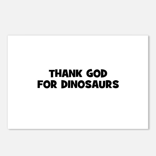 Thank God For Dinosaurs Postcards (Package of 8)