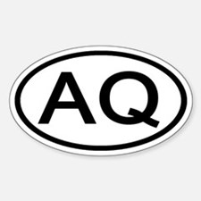 AQ - Initial Oval Oval Decal