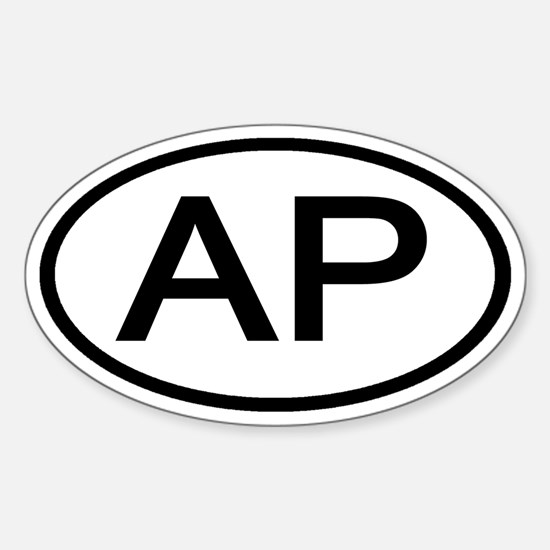 AP - Initial Oval Oval Decal