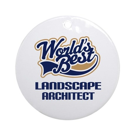 Landscape architect gift ornament round by jobtees2 for Gifts for landscape architects