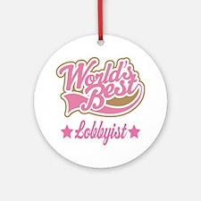 Lobbyist Gift Ornament (Round)