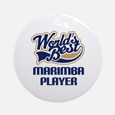 Marimba Player Gift Ornament (Round)