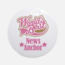 News Anchor Gift Ornament (Round)