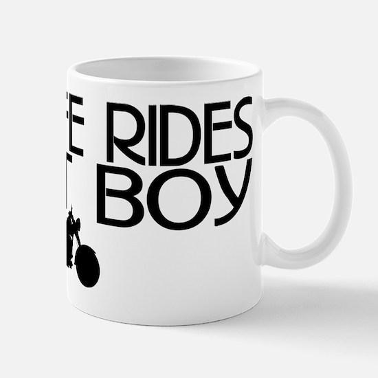 Wife Rides a Fatboy Mug