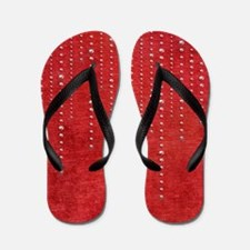 Christmas Red Chenille with Bling Flip Flops