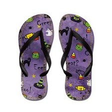 Purple Halloween Flip Flops