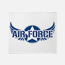 Air Force Wings Throw Blanket