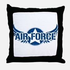 Air Force Wings Throw Pillow