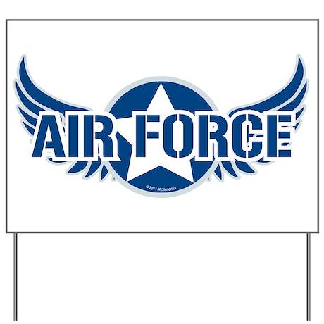 Air Force Wings Yard Sign
