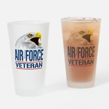 Air Force Veteran Eagle Drinking Glass
