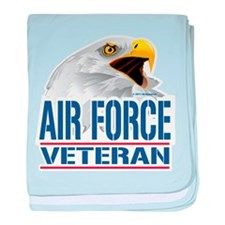 Air Force Veteran Eagle baby blanket