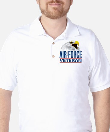 Air Force Veteran Eagle Golf Shirt