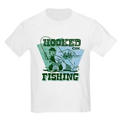 Retro Hooked On Fishing T-Shirt
