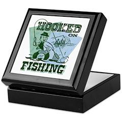 Retro Hooked On Fishing Keepsake Box