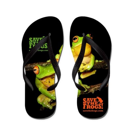 Save the Frogs Flip Flops