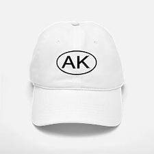 AK - Initial Oval Baseball Baseball Cap